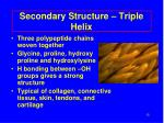 secondary structure triple helix