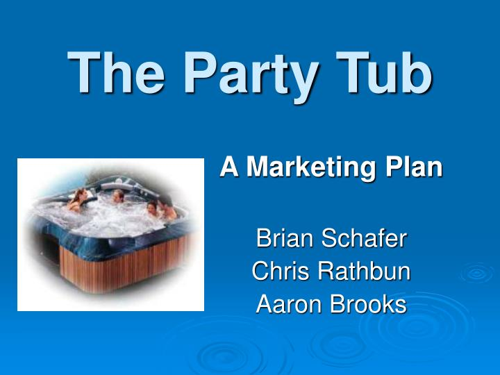 the party tub n.