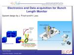 electronics and data acquisition for bunch length monitor