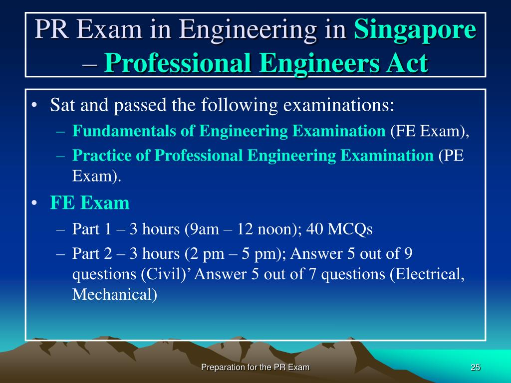 PPT - Preparation for the Professional Review Examination in