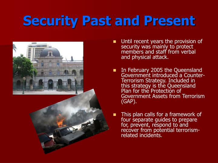 Security past and present