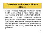 offenders with mental illness cont