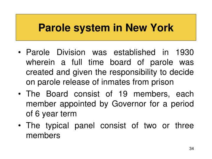 Parole system in New York