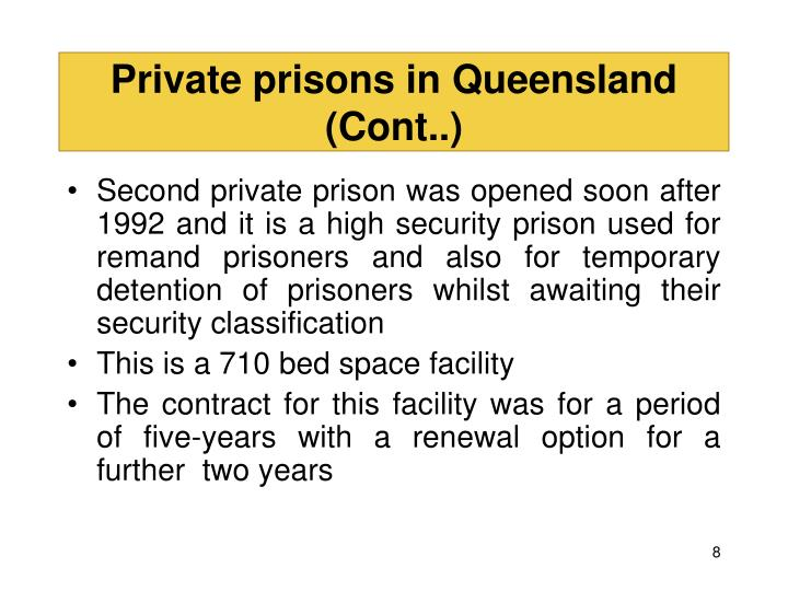 Private prisons in Queensland