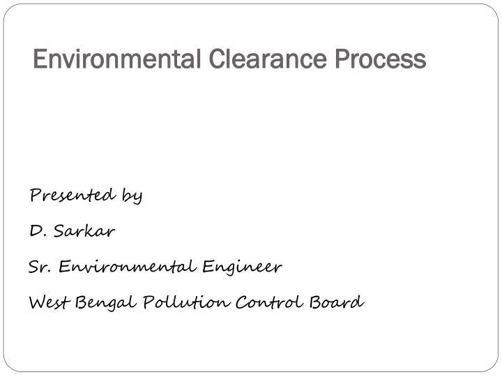 environmental clearance process n.