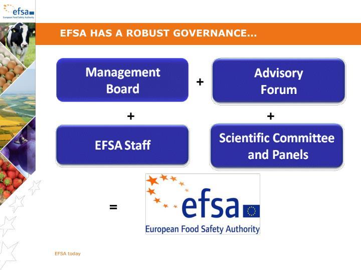 EFSA has a robust governance...