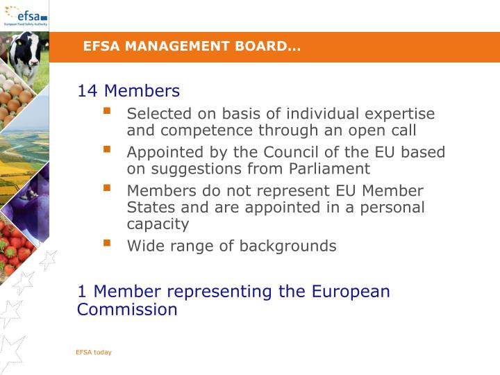 EFSA Management Board…