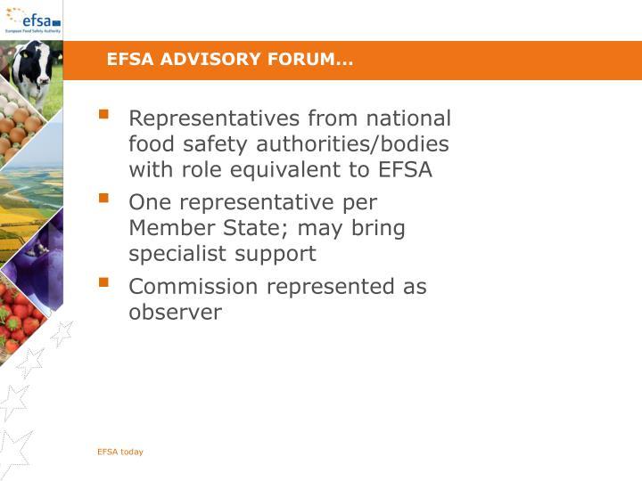 EFSA Advisory Forum...
