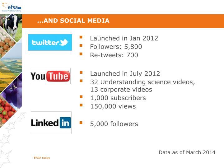 ...and social media