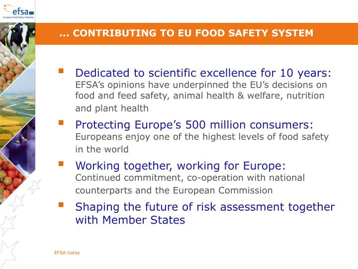... contributing to EU food safety system