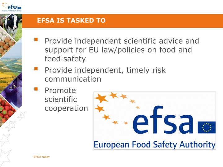 EFSA is tasked to
