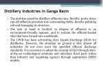 distillery industries in ganga basin