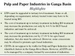 pulp and paper industries in ganga basin highlights1