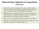 pulp and paper industries in ganga basin highlights2