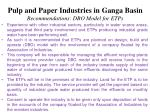 pulp and paper industries in ganga basin recommendations dbo model for etps1