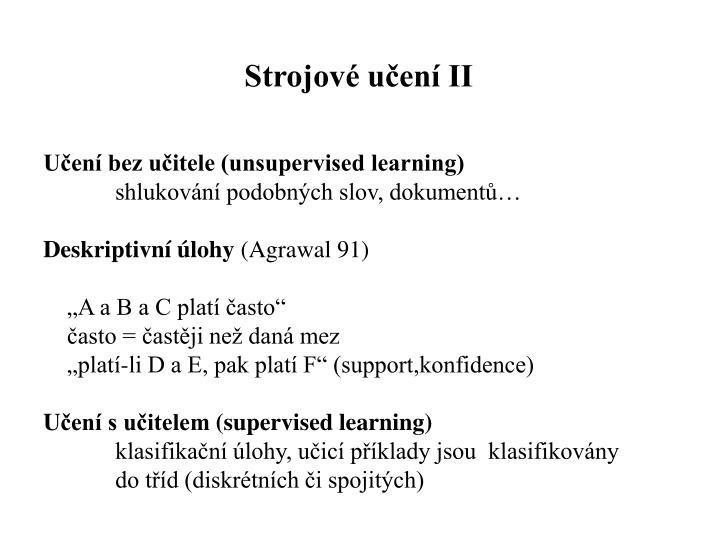 Strojové učení II