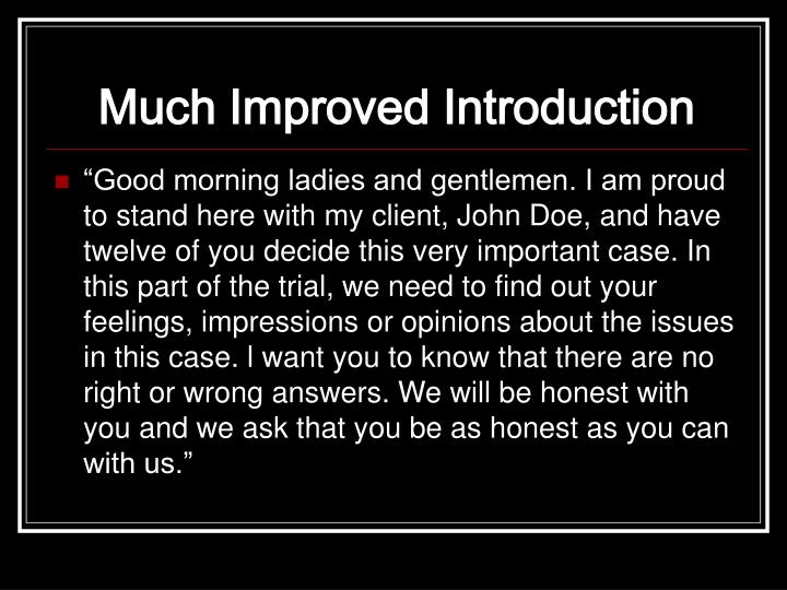 Much Improved Introduction
