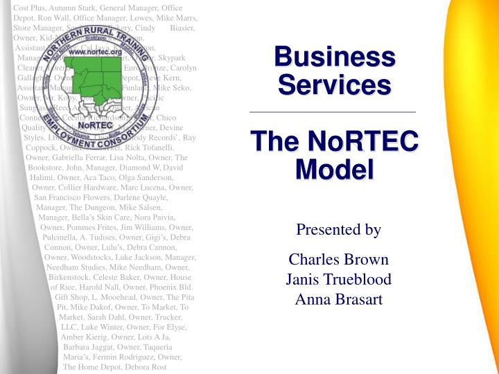 business services the nortec model n.