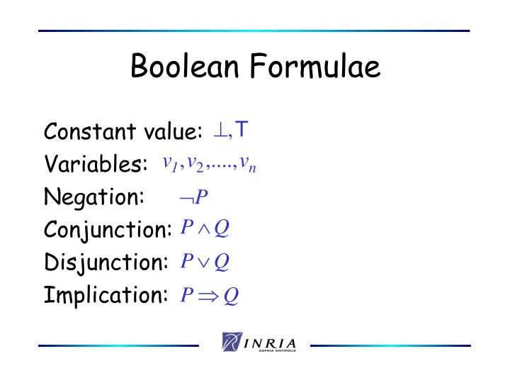 Boolean Formulae
