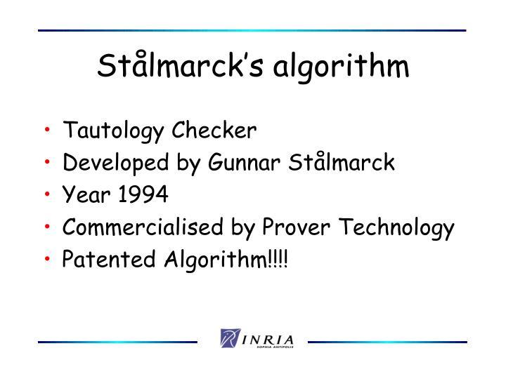 Stålmarck's algorithm