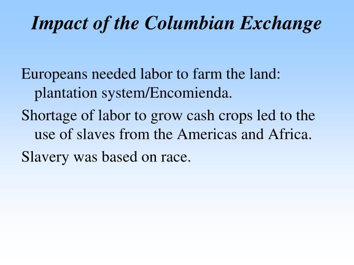 Impact of the Columbian Exchange