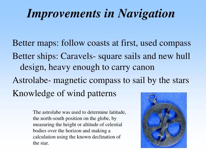 Improvements in Navigation