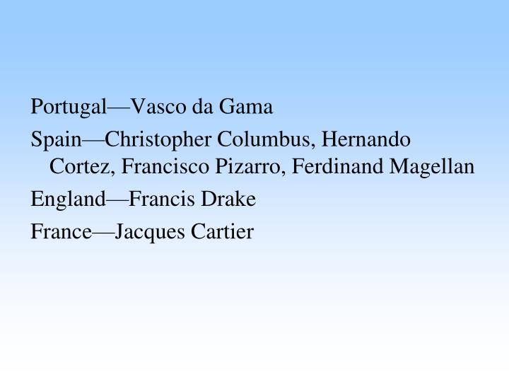 Portugal—Vasco da Gama
