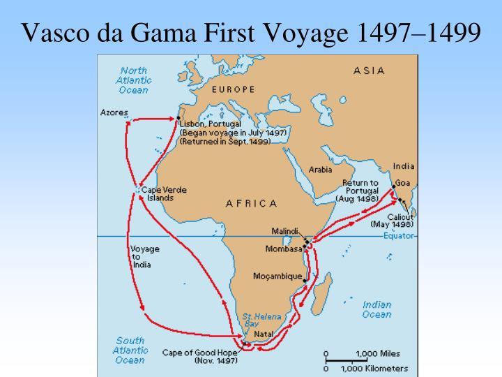 Vasco da Gama First Voyage 1497–1499