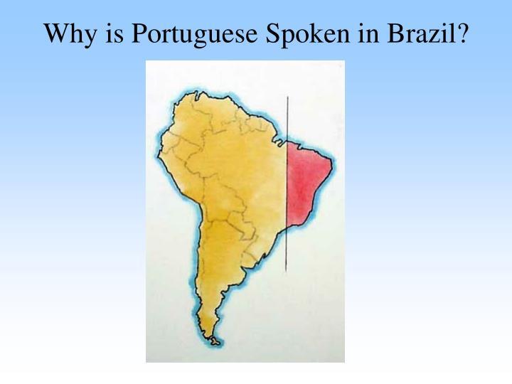 Why is Portuguese Spoken in Brazil?