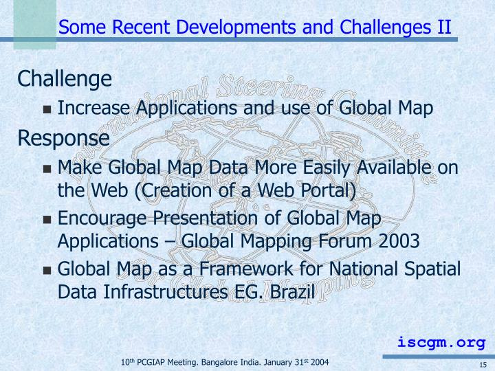Some Recent Developments and Challenges II