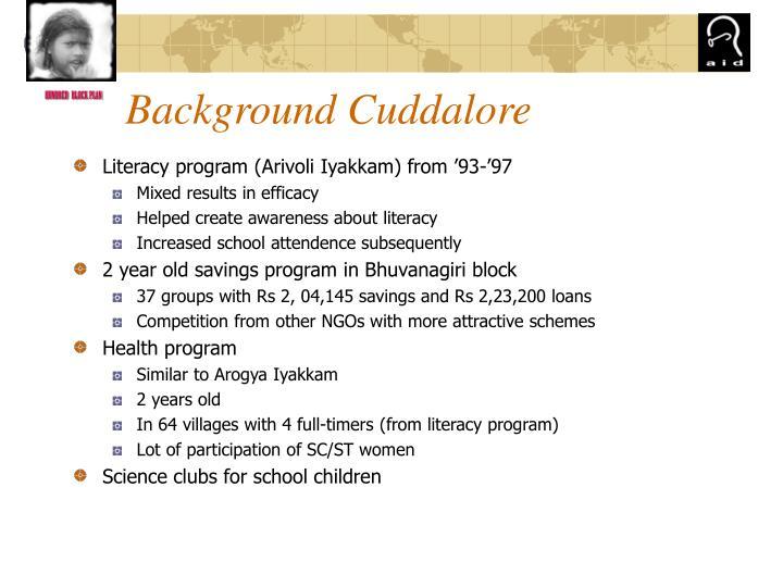 Background Cuddalore