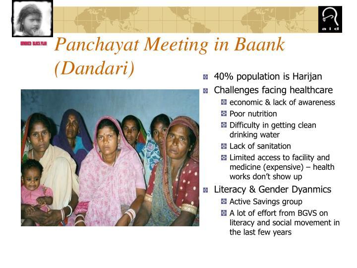 Panchayat Meeting in Baank (Dandari)