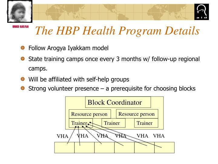 The HBP Health Program Details