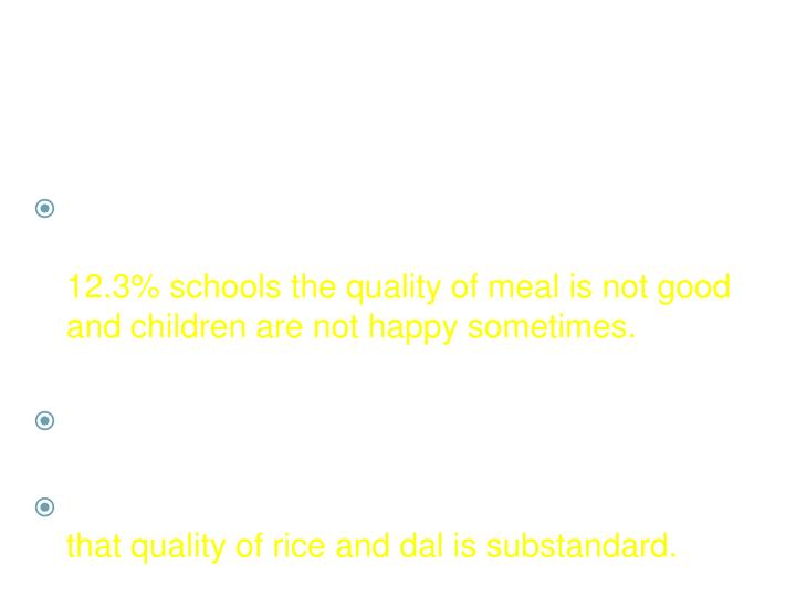 Quality and Quantity of Meal
