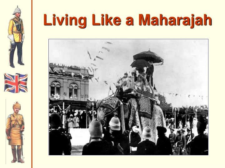 Living Like a Maharajah