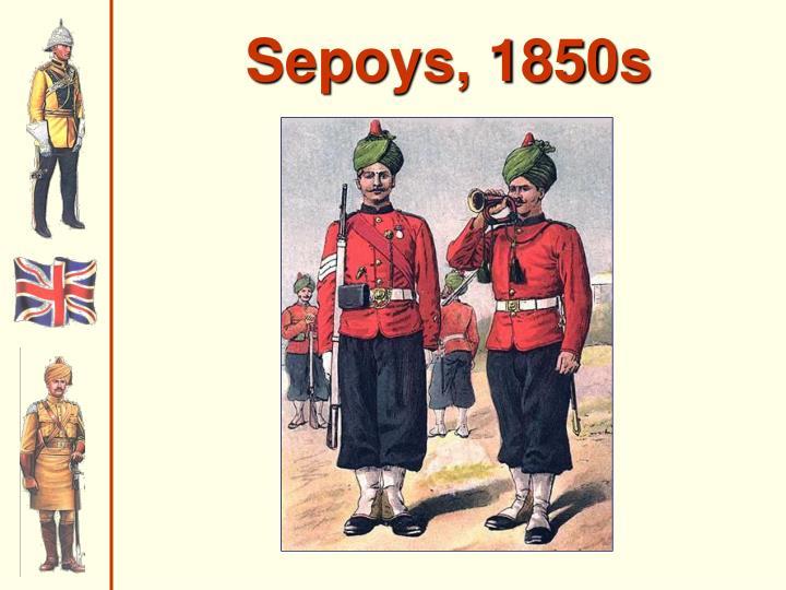 Sepoys, 1850s