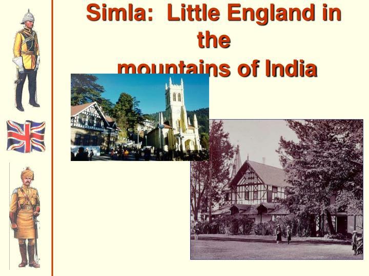 Simla:  Little England in the