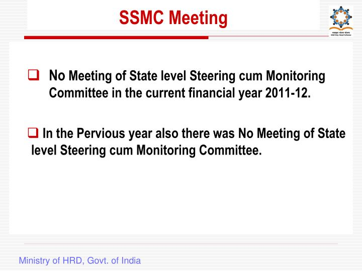 SSMC Meeting