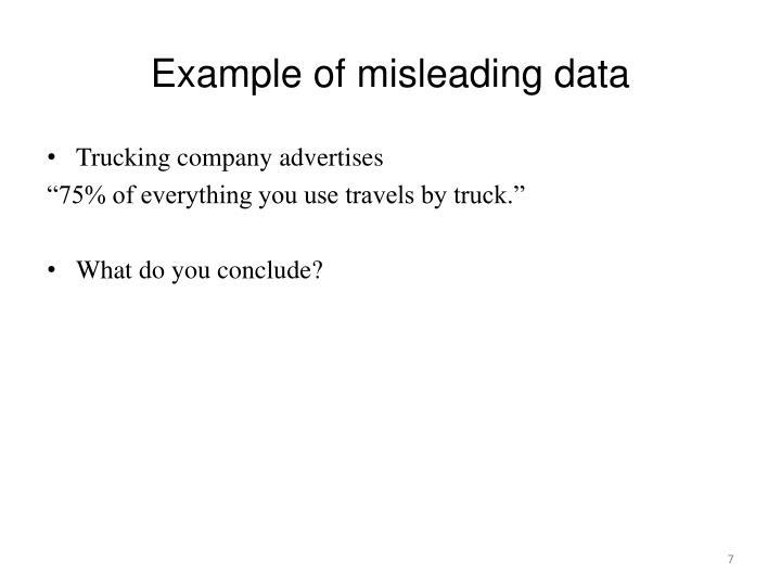 Example of misleading data