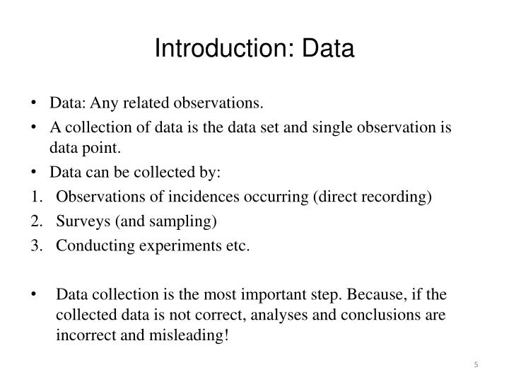 Introduction: Data