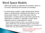 word space models