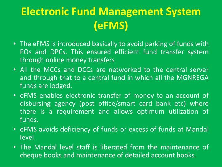 Electronic Fund Management System (eFMS)