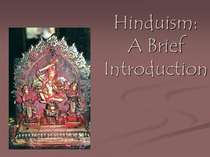 hinduism a brief introduction n.