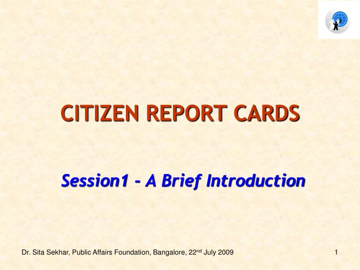 citizen report cards n.