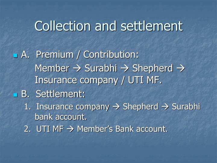 Collection and settlement