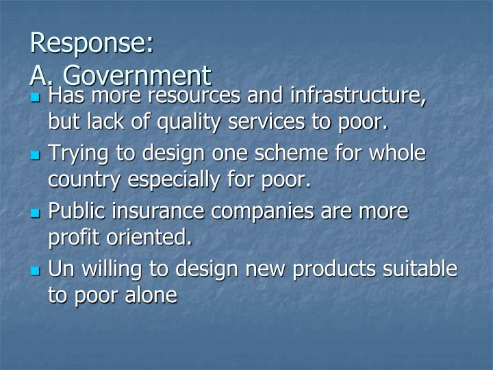 Response a government