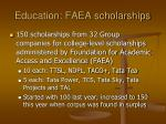 education faea scholarships