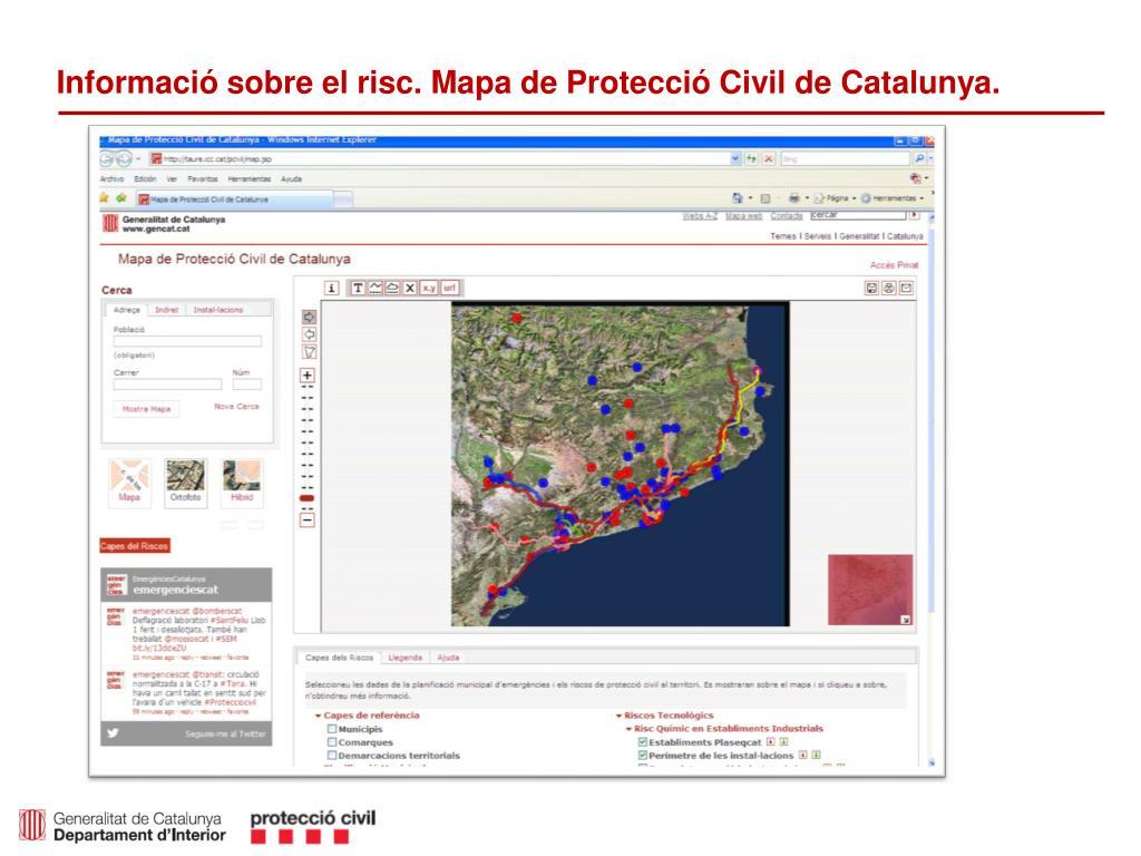 Mapa De Protecció Civil.Ppt Actuacions De La Proteccio Civil I Principals Canvis