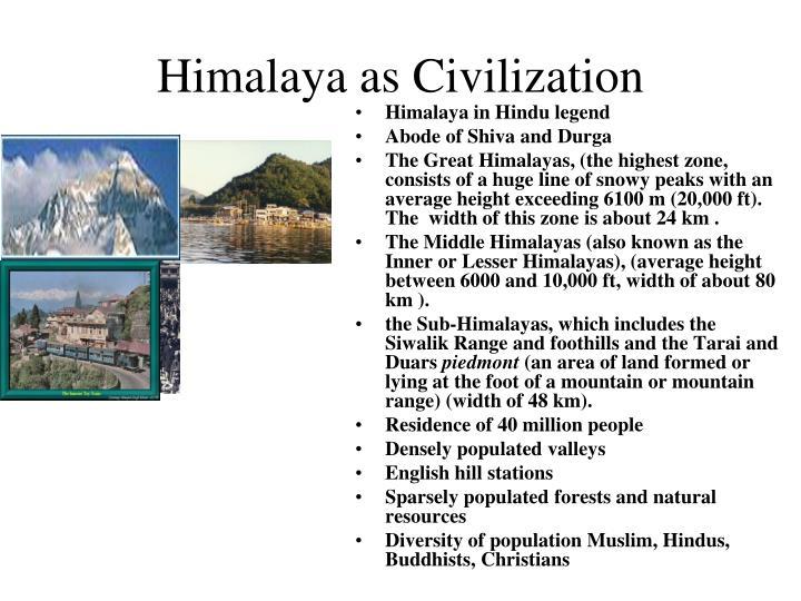 Himalaya as Civilization