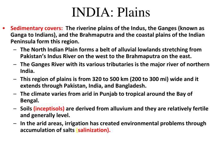INDIA: Plains